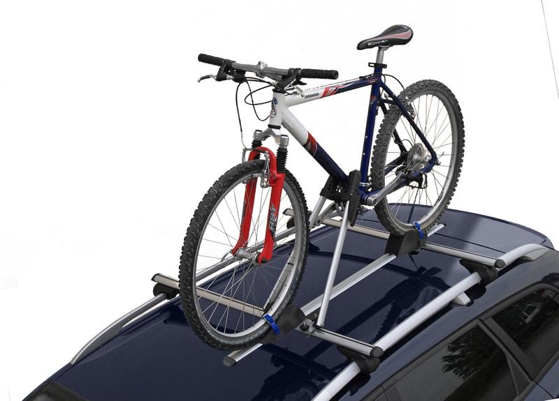 Portabicicletas para coche de techo.